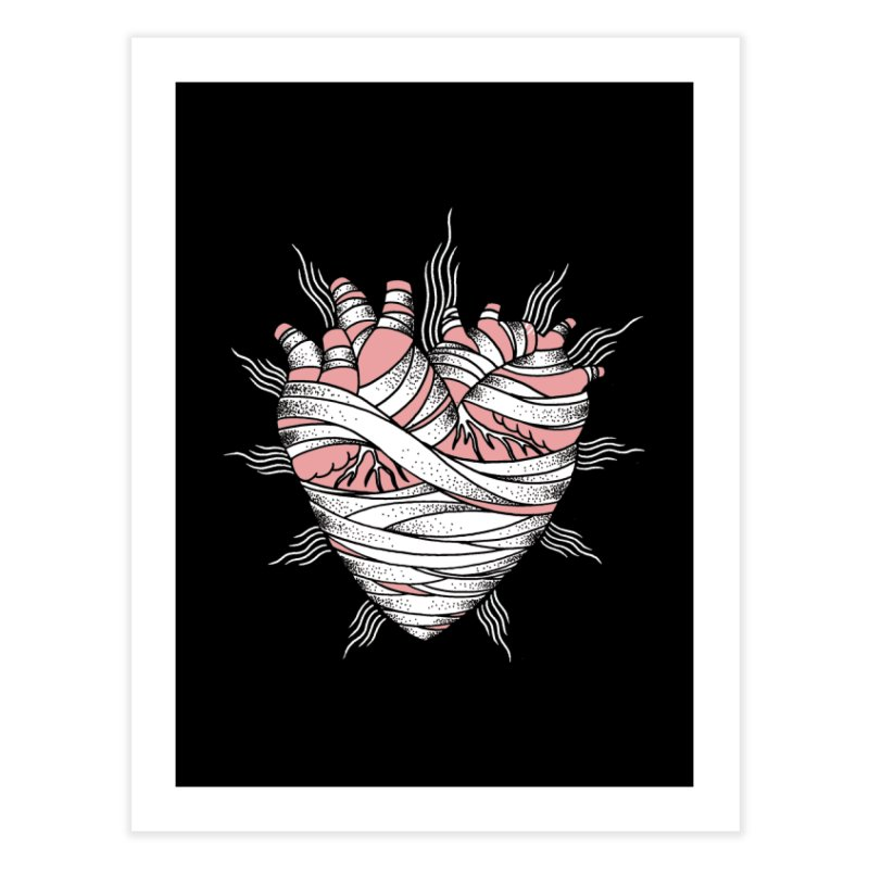 Heart of the Mummy Home Fine Art Print by pesst's Artist Shop