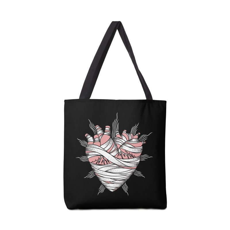 Heart of the Mummy Accessories Tote Bag Bag by pesst's Artist Shop