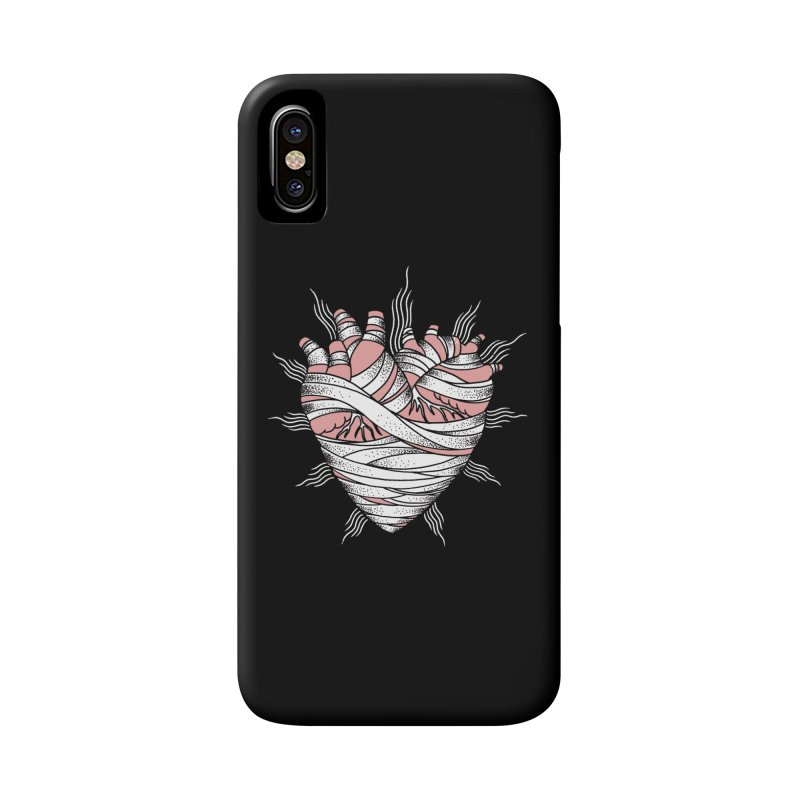 Heart of the Mummy Accessories Phone Case by pesst's Artist Shop