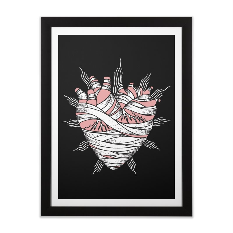 Heart of the Mummy Home Framed Fine Art Print by pesst's Artist Shop