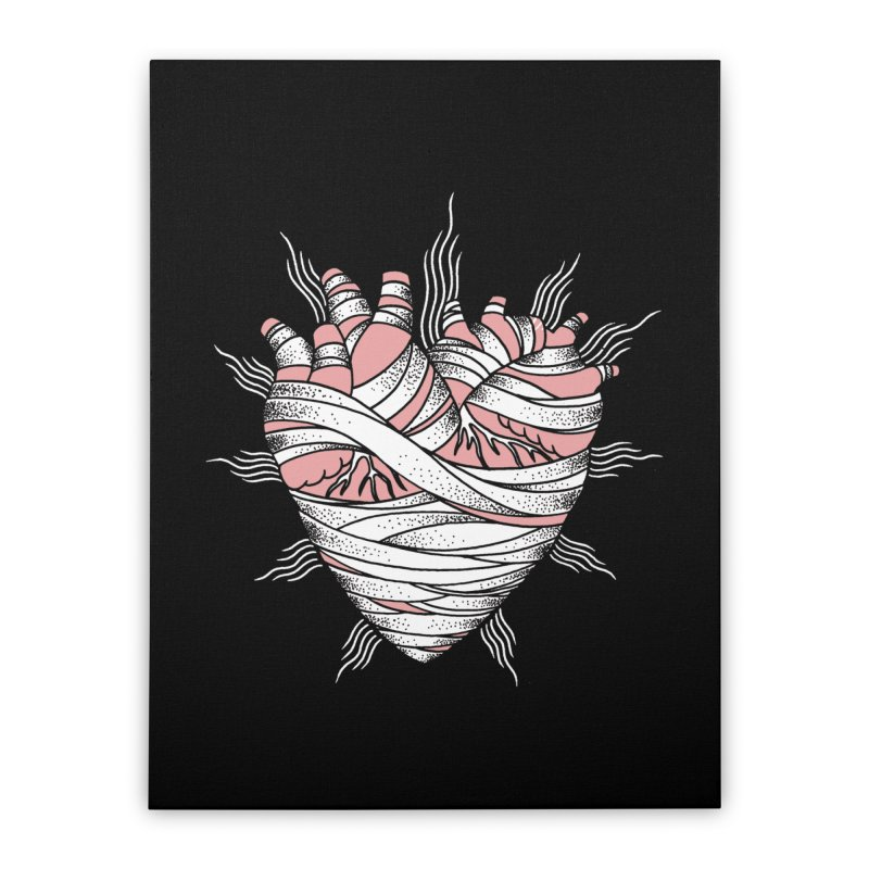 Heart of the Mummy Home Stretched Canvas by pesst's Artist Shop
