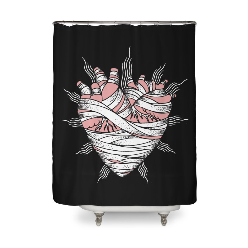 Heart of the Mummy Home Shower Curtain by pesst's Artist Shop