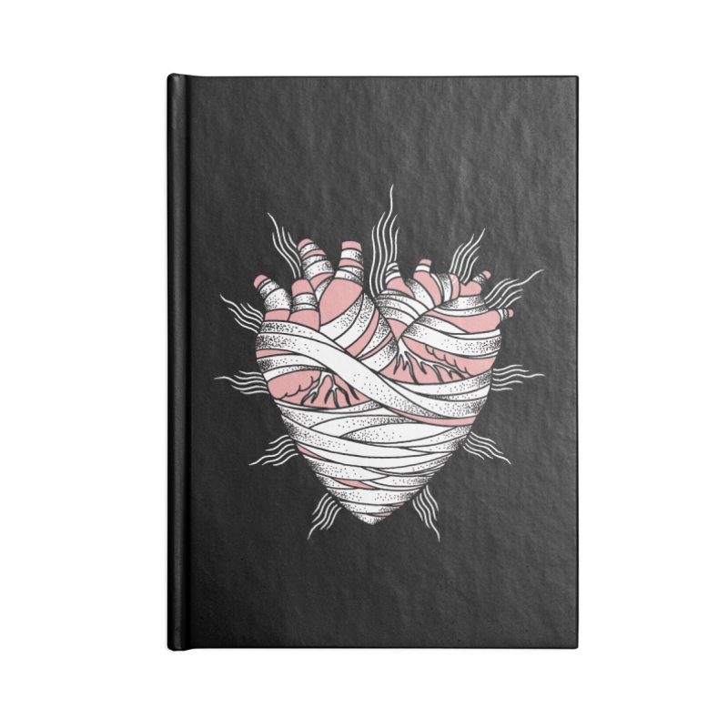 Heart of the Mummy Accessories Lined Journal Notebook by pesst's Artist Shop