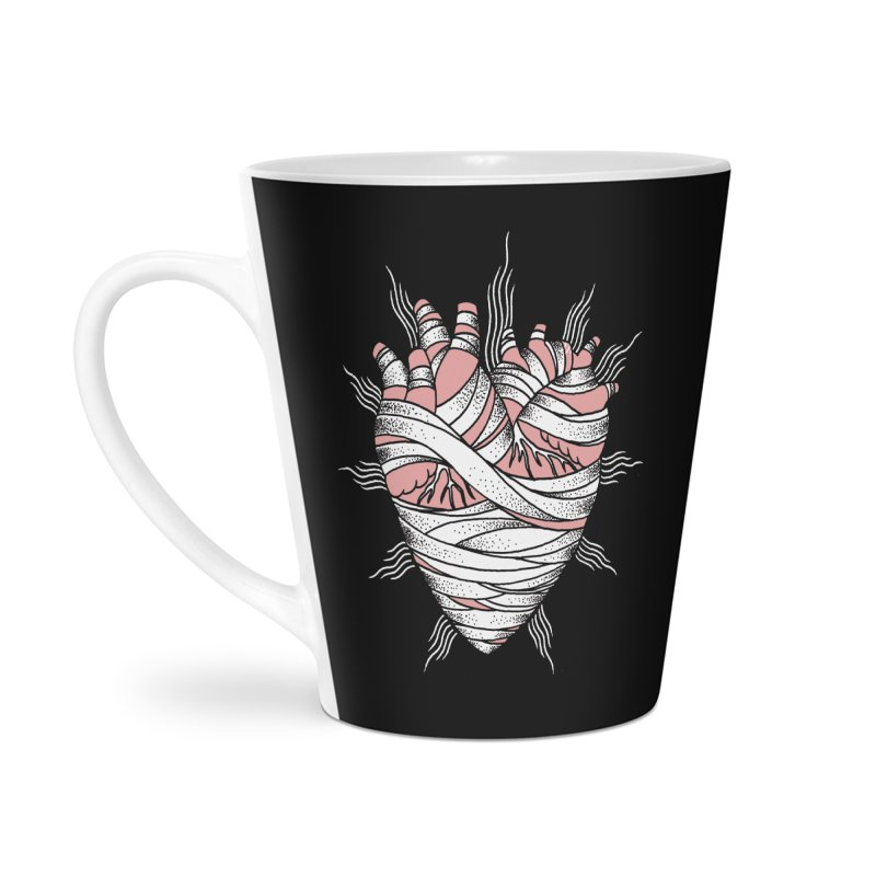Heart of the Mummy Accessories Latte Mug by pesst's Artist Shop