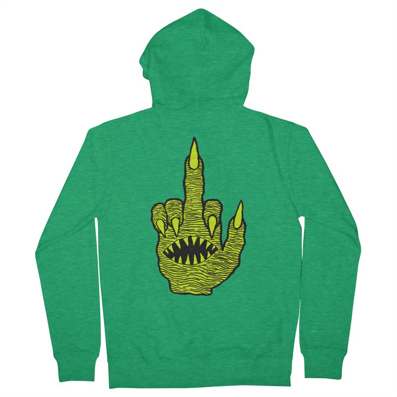 Monster Hand Women's French Terry Zip-Up Hoody by pesst's Artist Shop