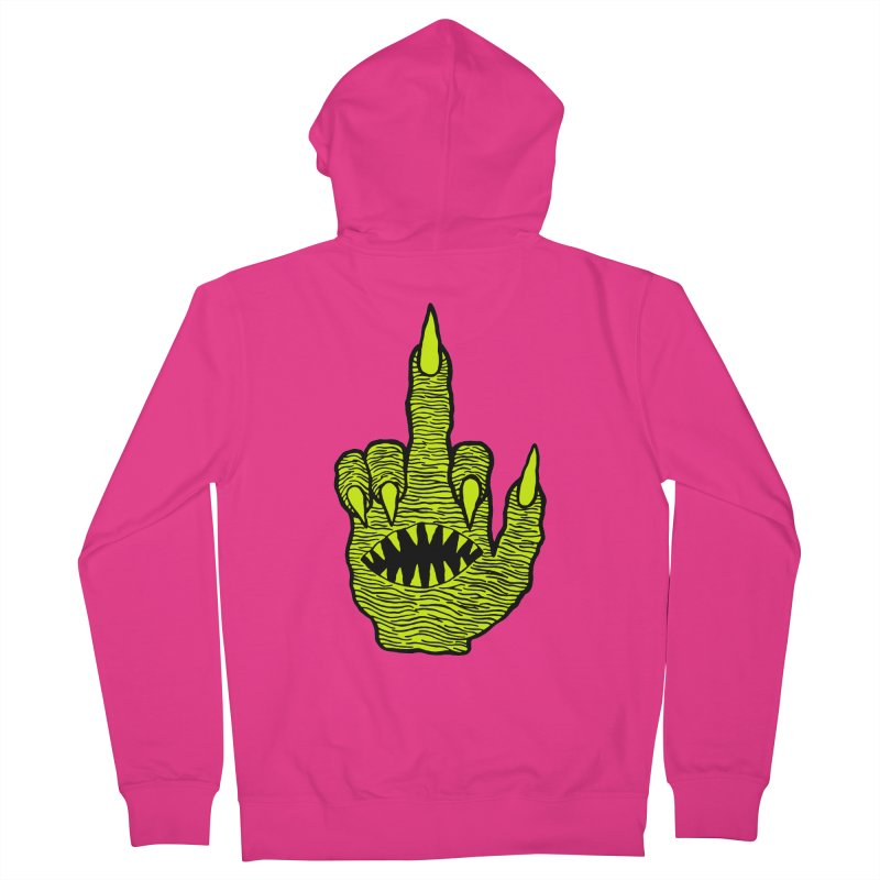 Monster Hand Men's French Terry Zip-Up Hoody by pesst's Artist Shop
