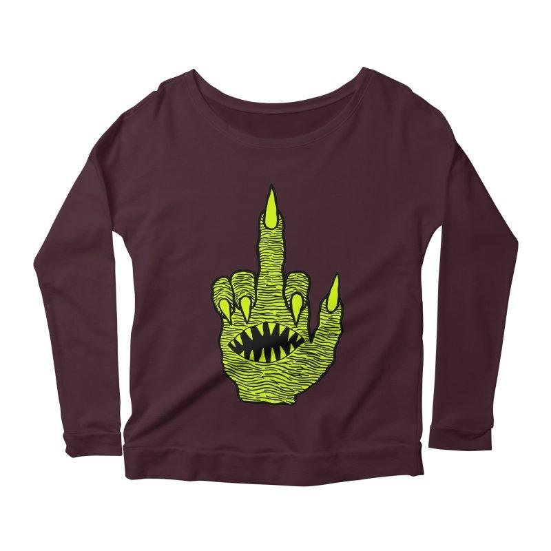 Monster Hand Women's Longsleeve Scoopneck  by pesst's Artist Shop