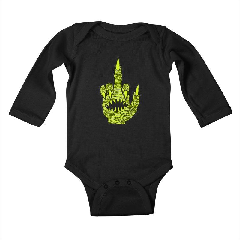 Monster Hand Kids Baby Longsleeve Bodysuit by pesst's Artist Shop