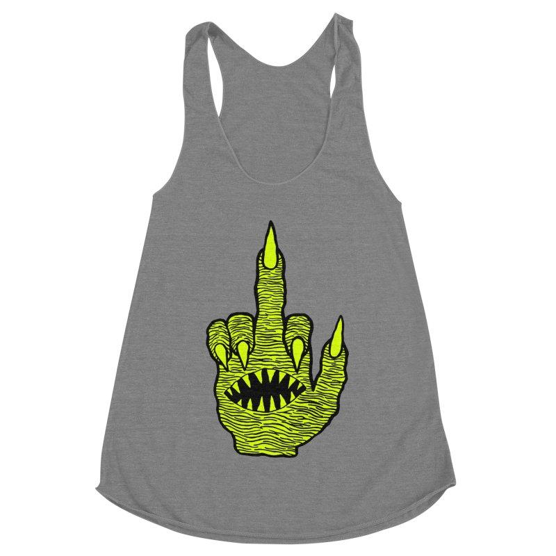 Monster Hand Women's Racerback Triblend Tank by pesst's Artist Shop