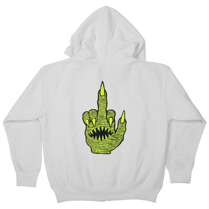 Monster Hand Kids Zip-Up Hoody by pesst's Artist Shop
