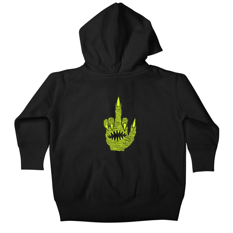 Monster Hand Kids Baby Zip-Up Hoody by pesst's Artist Shop