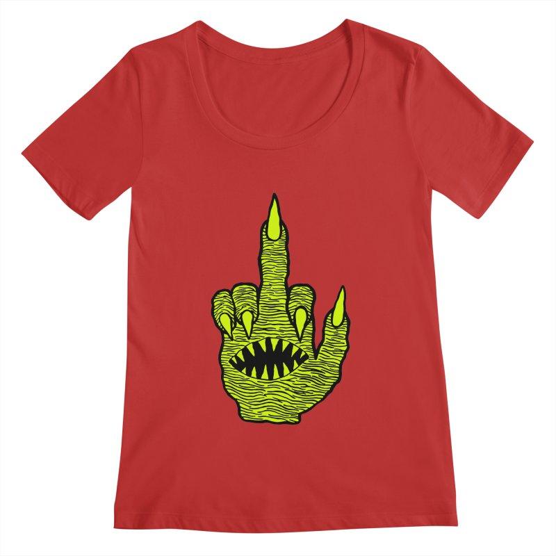 Monster Hand Women's Regular Scoop Neck by pesst's Artist Shop