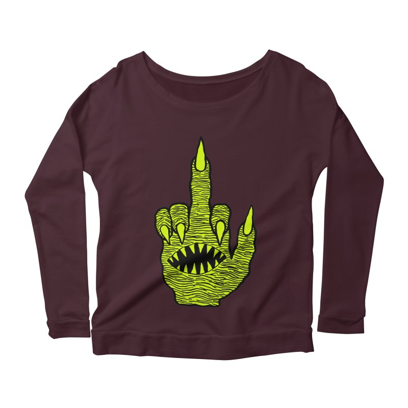 Monster Hand Women's Scoop Neck Longsleeve T-Shirt by pesst's Artist Shop