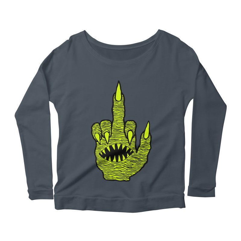 Monster Hand Women's Longsleeve Scoopneck  by pesst's Artist Shop