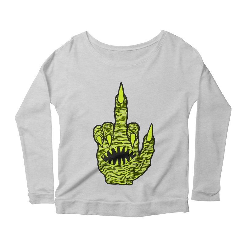 Monster Hand Women's Scoop Neck Longsleeve T-Shirt by pesst's Artist Shop