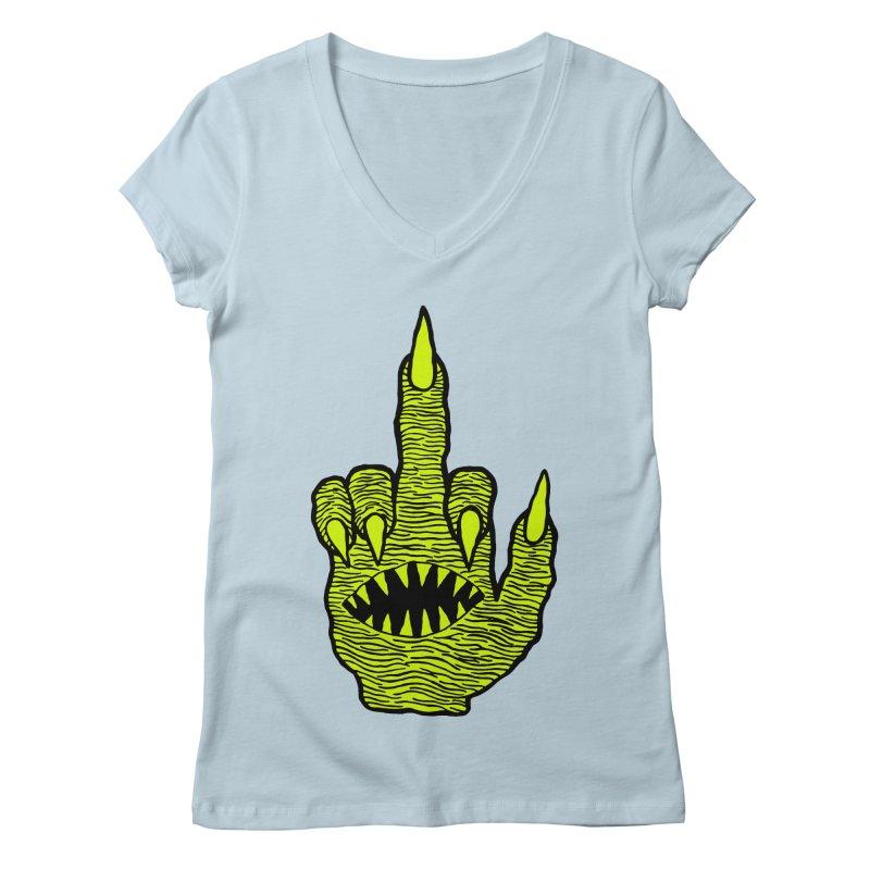 Monster Hand Women's Regular V-Neck by pesst's Artist Shop