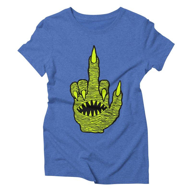 Monster Hand Women's Triblend T-Shirt by pesst's Artist Shop