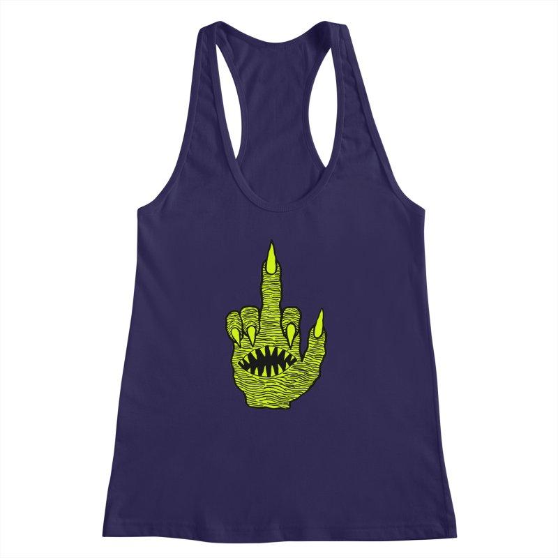 Monster Hand Women's Racerback Tank by pesst's Artist Shop
