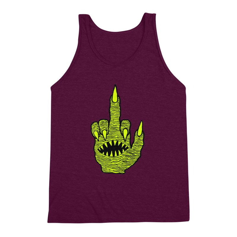 Monster Hand Men's Triblend Tank by pesst's Artist Shop