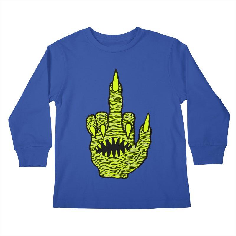 Monster Hand Kids Longsleeve T-Shirt by pesst's Artist Shop