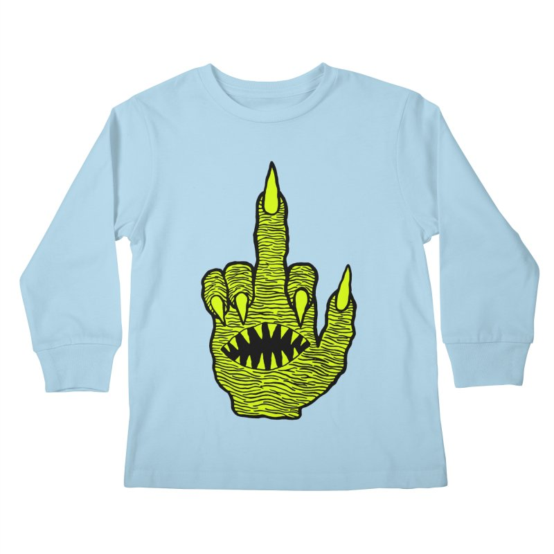 Monster Hand Kids Longsleeve T-Shirt by pesst's Artist Shop