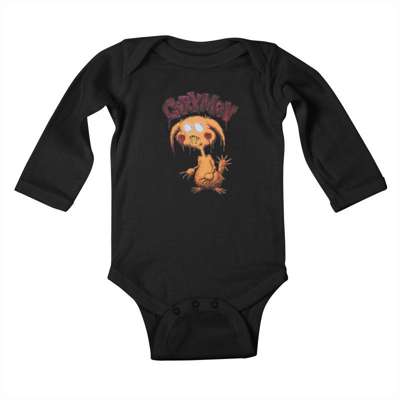 Pikachu's Ugly Sister - Gorymon Kids Baby Longsleeve Bodysuit by pesst's Artist Shop