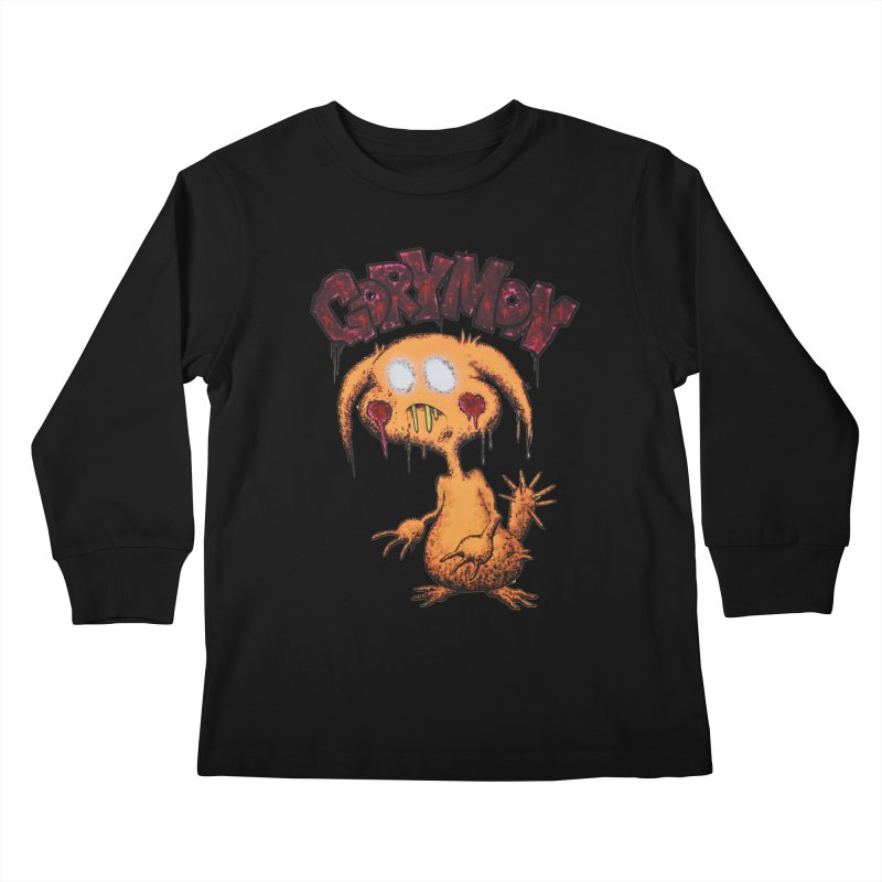 Pikachu's Ugly Sister - Gorymon Kids Longsleeve T-Shirt by pesst's Artist Shop