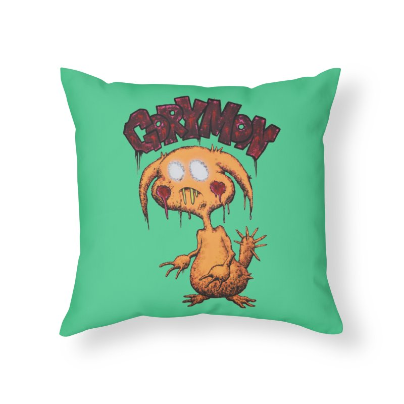 Pikachu's Ugly Sister - Gorymon Home Throw Pillow by pesst's Artist Shop