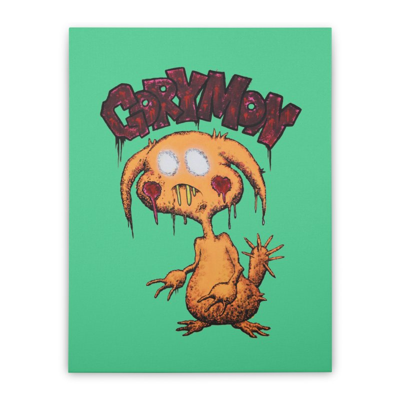 Pikachu's Ugly Sister - Gorymon Home Stretched Canvas by pesst's Artist Shop