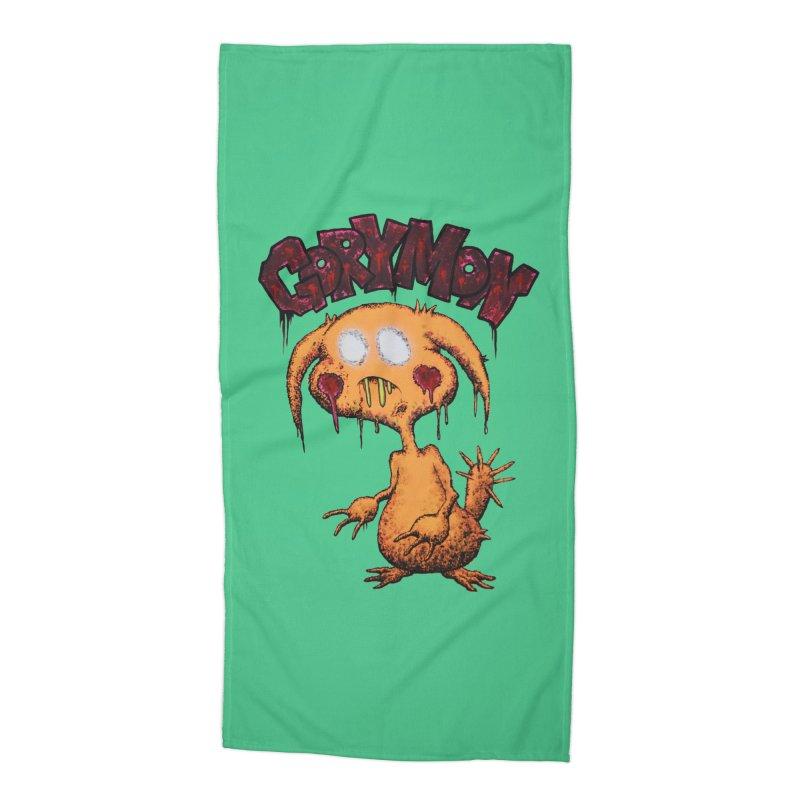 Pikachu's Ugly Sister - Gorymon Accessories Beach Towel by pesst's Artist Shop