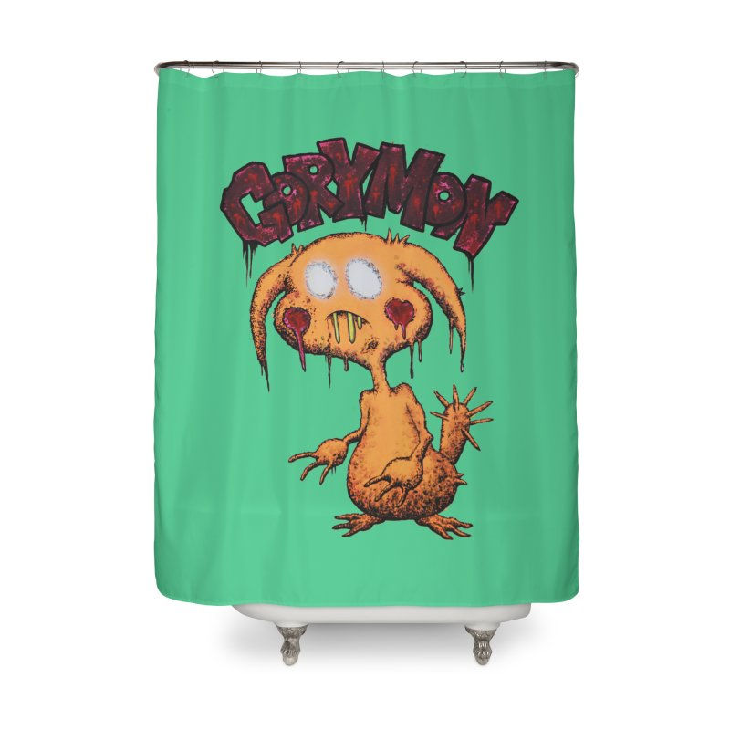 Pikachu's Ugly Sister - Gorymon Home Shower Curtain by pesst's Artist Shop