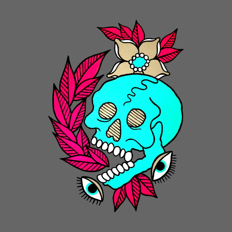 Blue Skull by pesst's Artist Shop