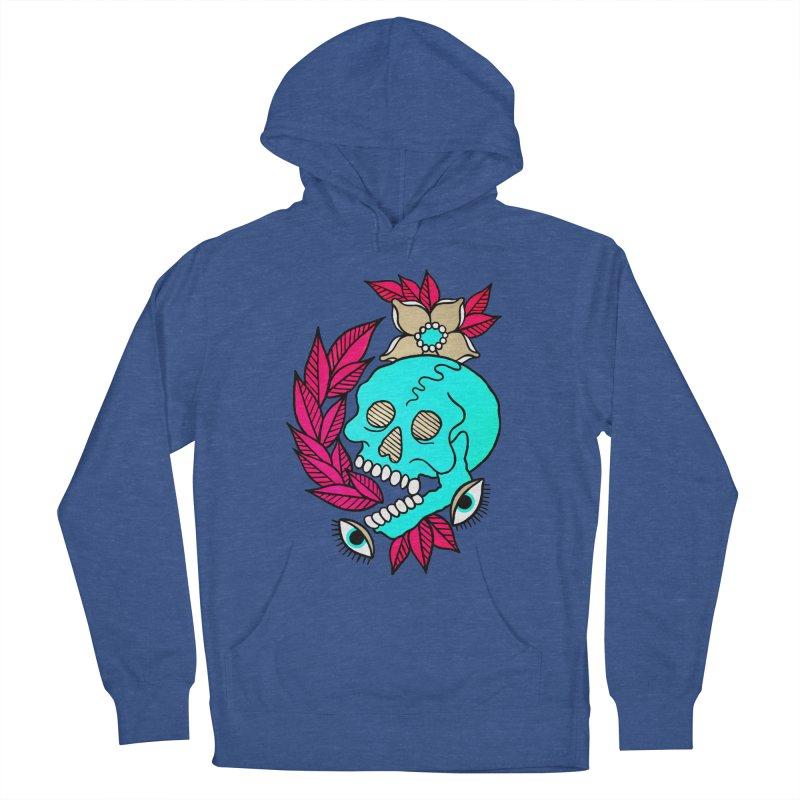 Blue Skull Men's Pullover Hoody by pesst's Artist Shop