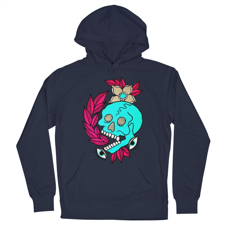 Blue Skull Men's Pullover Hoody by pesst's Artist Shop