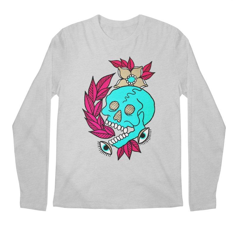 Blue Skull Men's Regular Longsleeve T-Shirt by pesst's Artist Shop