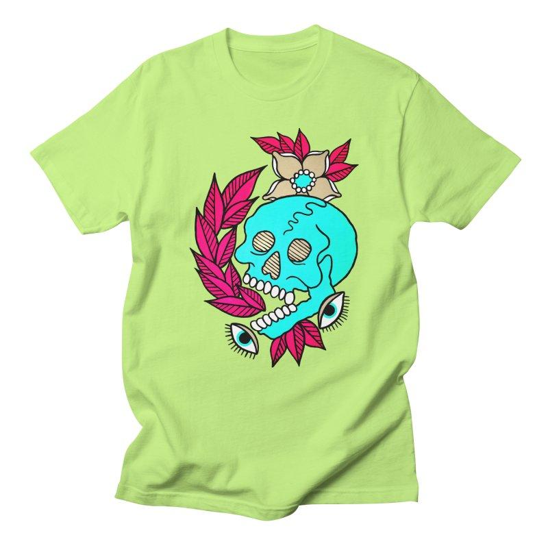 Blue Skull Women's Regular Unisex T-Shirt by pesst's Artist Shop