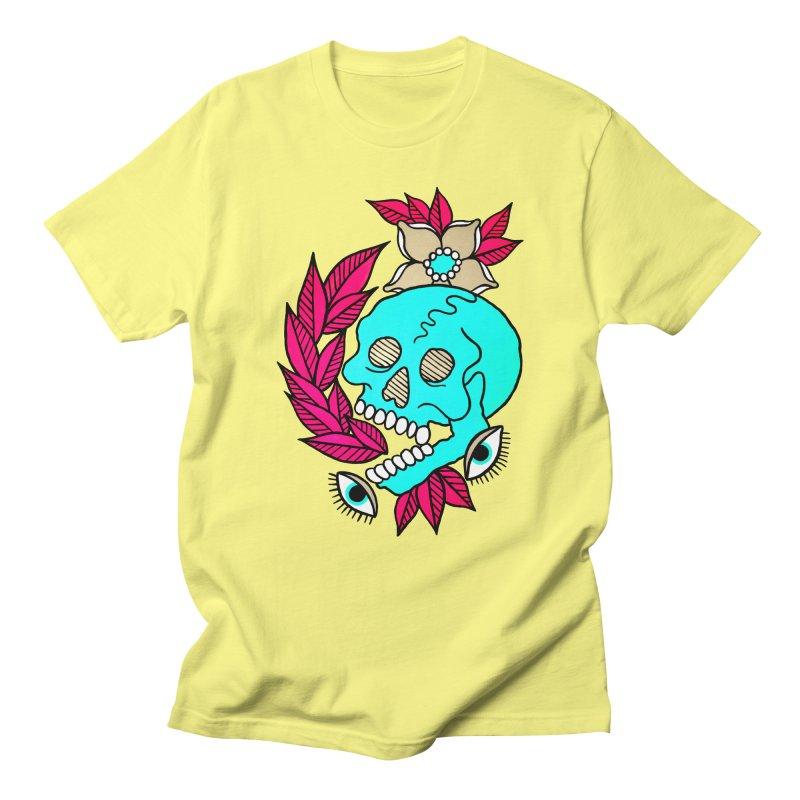 Blue Skull Women's Unisex T-Shirt by pesst's Artist Shop