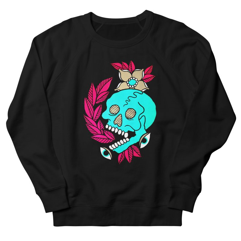 Blue Skull Women's French Terry Sweatshirt by pesst's Artist Shop
