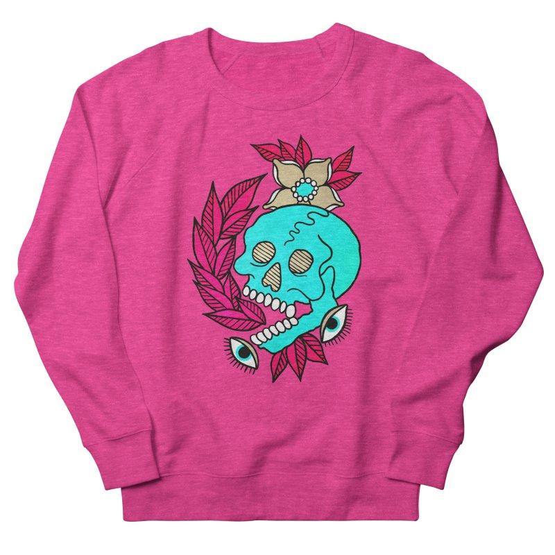 Blue Skull Men's French Terry Sweatshirt by pesst's Artist Shop