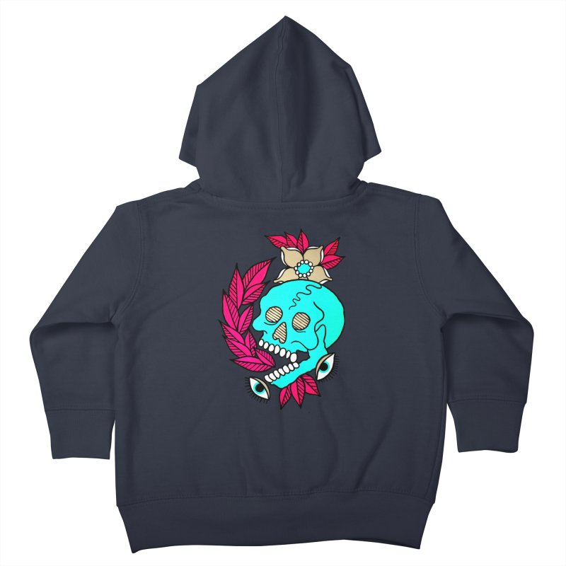 Blue Skull Kids Toddler Zip-Up Hoody by pesst's Artist Shop