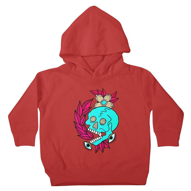Blue Skull Kids Toddler Pullover Hoody by pesst's Artist Shop