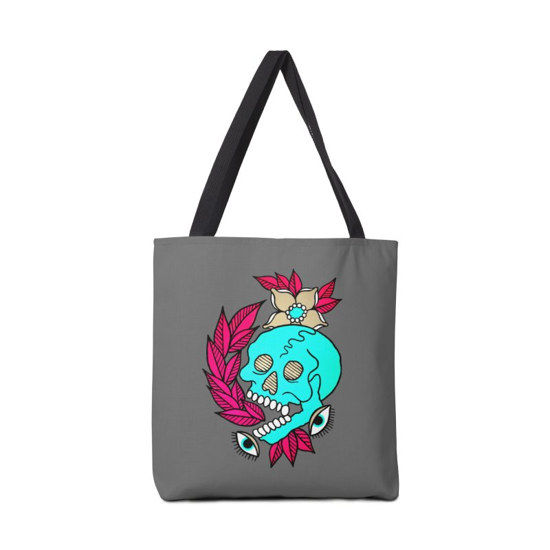 Blue Skull Accessories Tote Bag Bag by pesst's Artist Shop