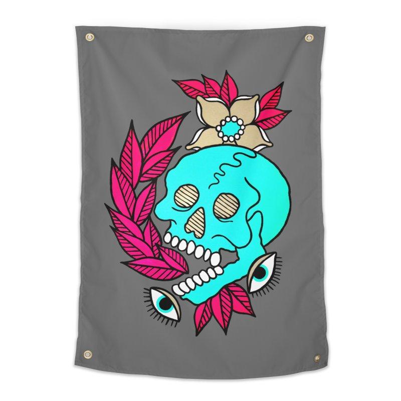 Blue Skull Home Tapestry by pesst's Artist Shop