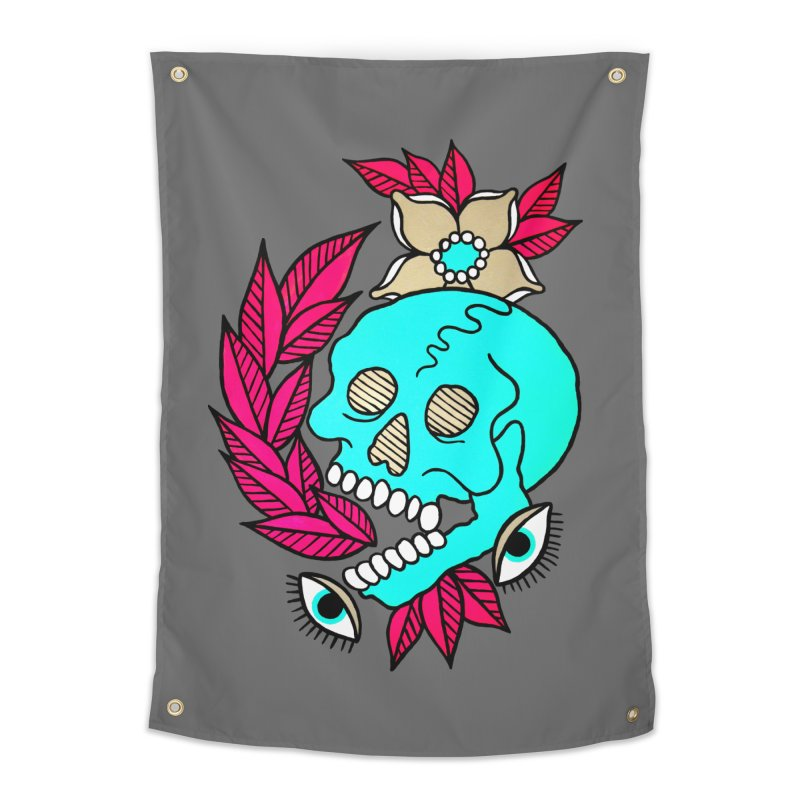 Blue Skull Home Tapestry by pesst's Artist Shop