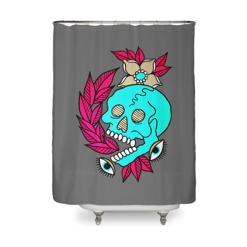 Blue Skull Home Shower Curtain by pesst's Artist Shop