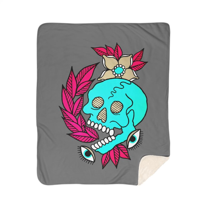 Blue Skull Home Blanket by pesst's Artist Shop