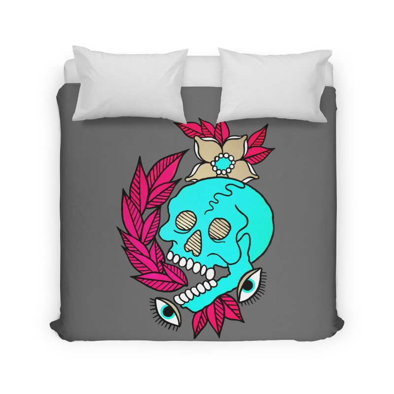 Blue Skull Home Duvet by pesst's Artist Shop