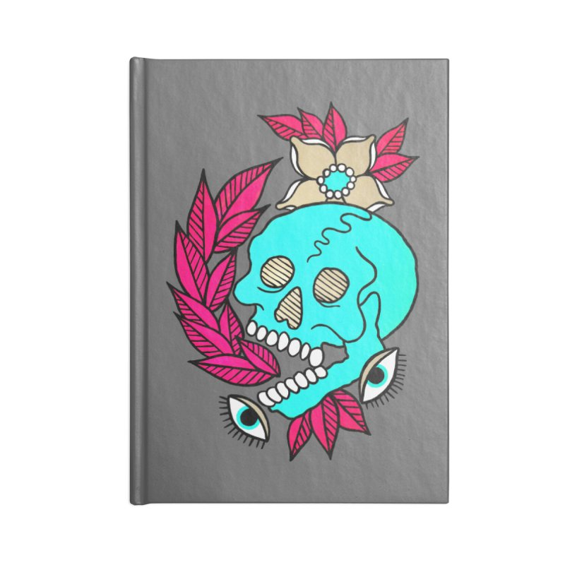 Blue Skull Accessories Lined Journal Notebook by pesst's Artist Shop