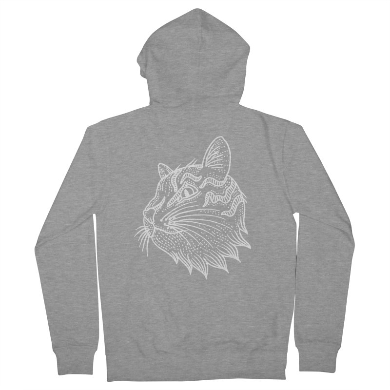 Smart Kitty Women's French Terry Zip-Up Hoody by pesst's Artist Shop