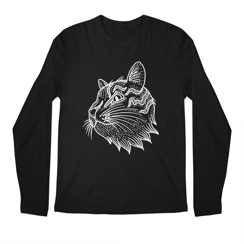 Smart Kitty Men's Longsleeve T-Shirt by pesst's Artist Shop